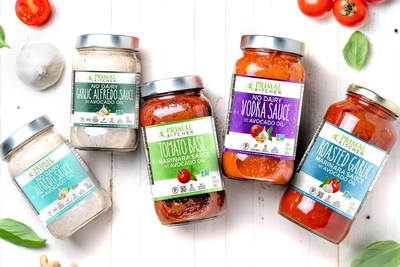 PRIMAL KITCHEN's new pasta sauce lineup includes five delicious flavors: Tomato Basil Marinara Sauce, Roasted Garlic Marinara Sauce, No-Dairy Alfredo Sauce, No-Dairy Garlic Alfredo Sauce and No-Dairy Vodka Sauce.