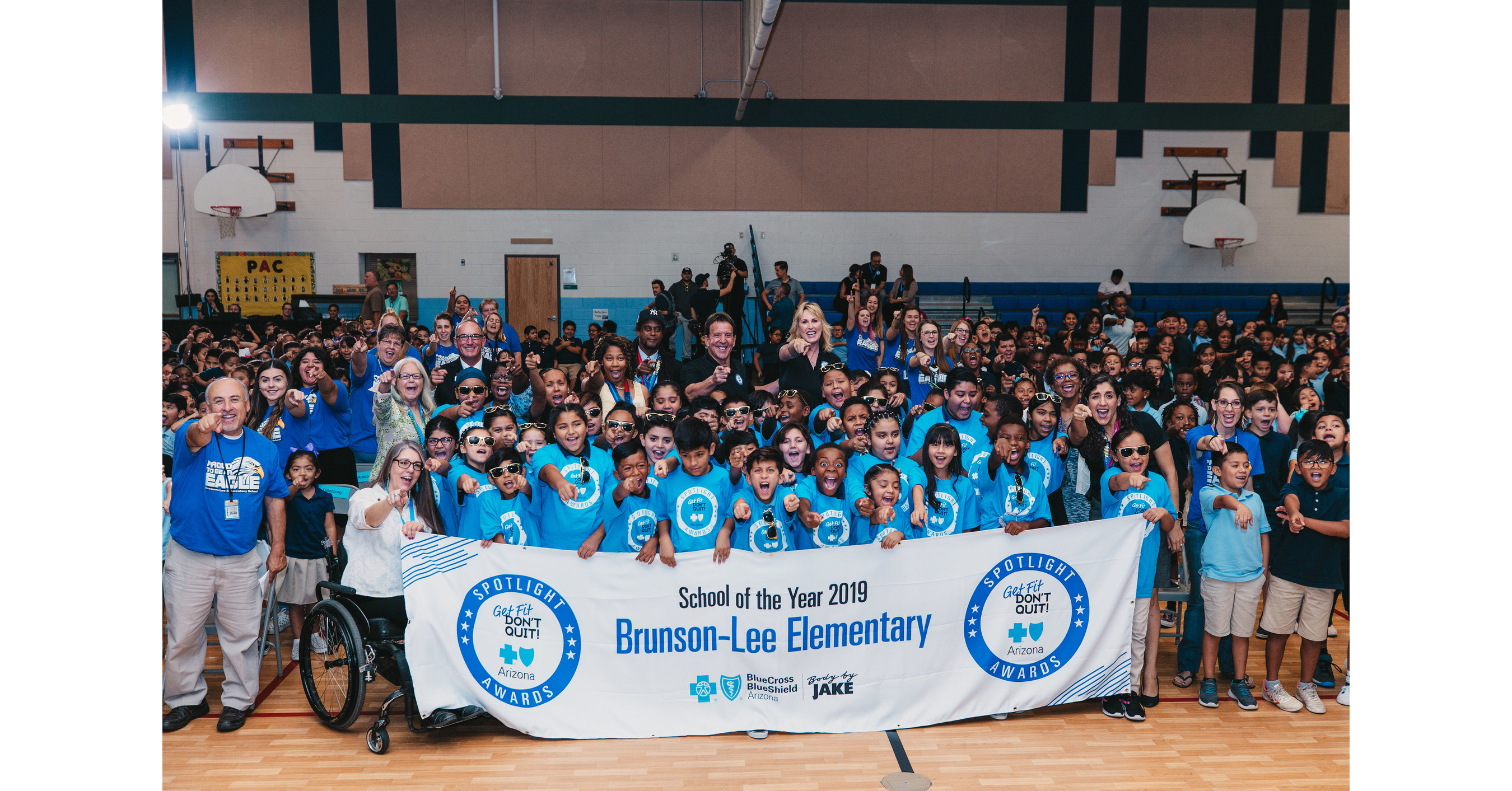 Blue Cross Blue Shield Of Arizona And Fitness Icon Jake Body By Jake Steinfeld Present 100 000 Fitness Center To Brunson Lee Elementary School
