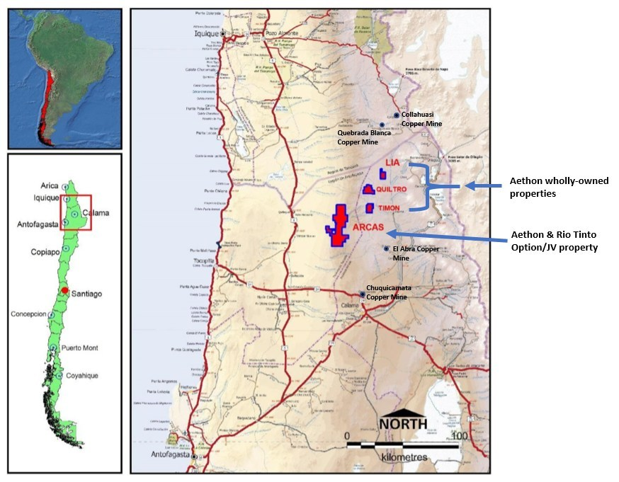 Figure 1:  Location of the Arcas Project & Aethon's Nearby Wholly-Owned Properties (CNW Group/Aethon Minerals)