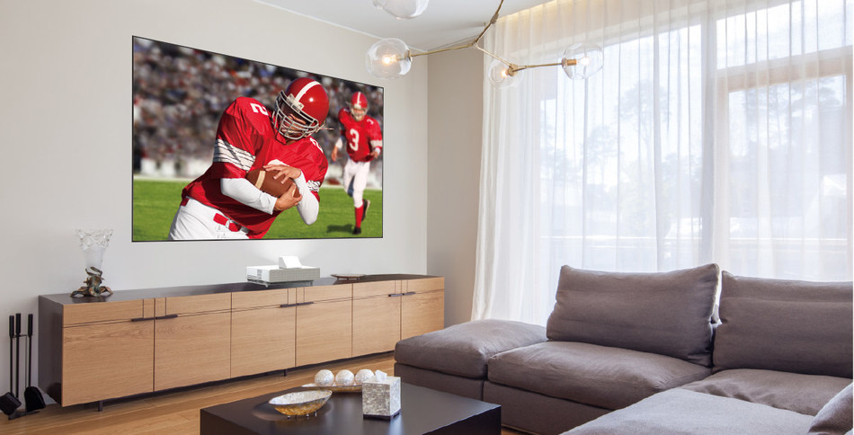The Epson LS500 Laser Projection TV offers sports enthusiasts, gamers, and content streamers an immersive, big-screen alternative to traditional LCD and OLED TVs.