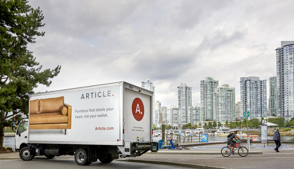 Article announces the Canadian expansion of its in-house delivery program, Article Delivery Team, in Vancouver. (CNW Group/Article)
