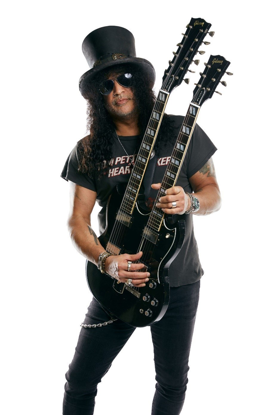 Slash, pictured with his 1966 EDS-1275 Doubleneck.