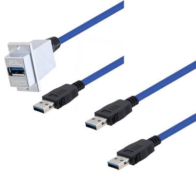 自锁型USB 3.0线缆新产品解决强振动应用需求