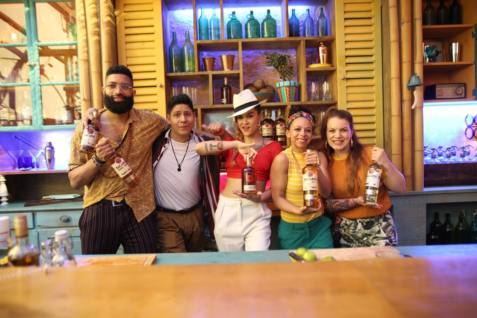 BACARDÍ debuts the epic new 'Sound of Rum' video and track produced by Swizz Beatz, with five of the top bartenders from around the world; from left to right; Lawrence Gregory (UK), Adrian Nino (France), Nicole Fas (Puerto Rico), Raysa Straal (Netherlands), Julia Rahn (Germany).