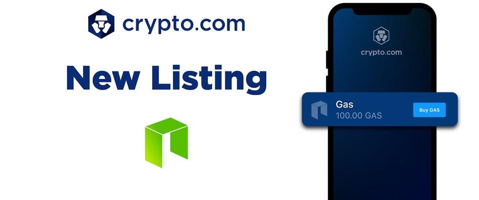 Crypto.com Lists GAS