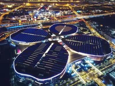 O Centro Nacional de Exposições e Convenções (Xangai) (PRNewsfoto/China International Import Expo)