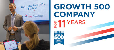 Canadian Business and Maclean's today ranked Fleet Complete® No. 211 on the annual Growth 500. (CNW Group/Fleet Complete)