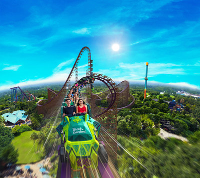 A NEW legend is surfacing in 2020 at Busch Gardens Tampa Bay with the evolution of Iron GwaziTM, North America's tallest, and the fastest, and steepest hybrid coaster in the world. Iron Gwazi will be 206 feet tall, feature a 91-degree drop, and reach top speeds of 76 miles per hour. The journey will include three inversions and 12 airtime hills as it races along more than 4,075 feet of purple steel track.