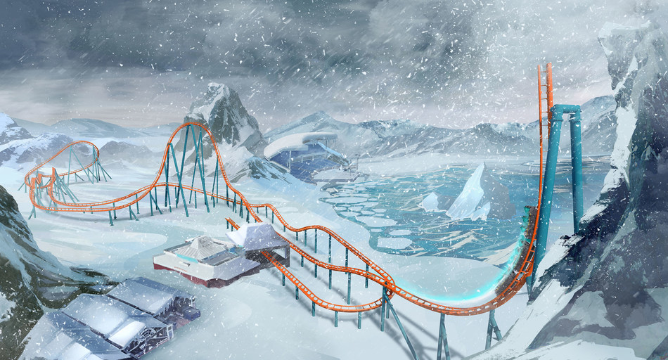 Coming to SeaWorld Orlando in 2020 is Orlando's first launch coaster: Ice Breaker™. Named after the icy Arctic summits, Ice Breaker will feature four launches, both backwards and forwards, culminating in a reverse launch into the steepest beyond vertical drop in Florida — a 93-foot tall spike with 100-degree angle. Artist Rendering: 2019© SeaWorld Parks