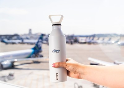 Alaska Airlines is inviting guests to #FillBeforeYouFly – a new initiative launched Sept. 12, 2019, that encourages guests and employees to bring their own water bottles and become active partners in the airline's goal to reduce single-use plastics.