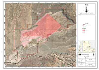 Turi Property - TEM and Proposed Drill Hole Location (CNW Group/Lithium Chile Inc.)