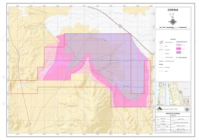 Coipasa Property - TEM and Proposed Drill Hole Location (CNW Group/Lithium Chile Inc.)