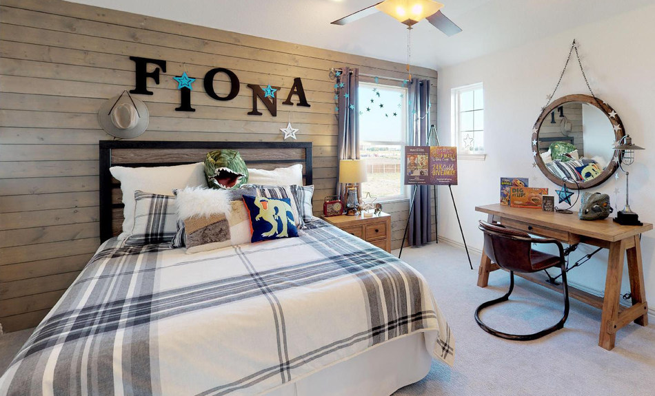 Gehan Homes Bedroom in Saddle Ridge (Carrollton, TX) Dedicated to Make-A-Wish Recipient
