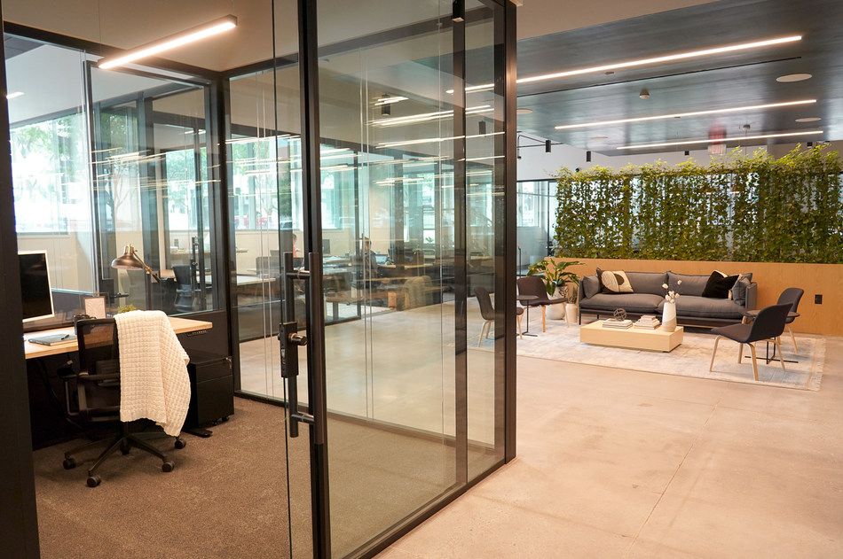 CommonGrounds Workplace Hackable Environment powered by Tecno wall system