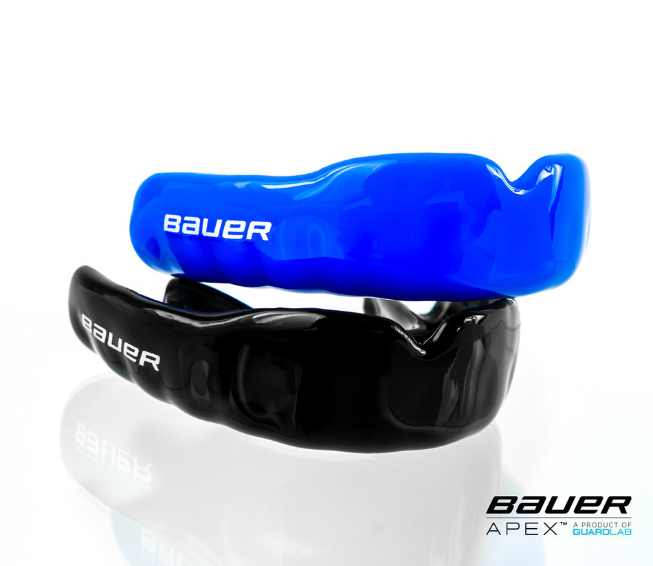The new Bauer APEX™ and APEX™ Lite Mouthguards, a product of GuardLab, are designed to closely replicate the look, feel and fit a custom fitted mouthguard.