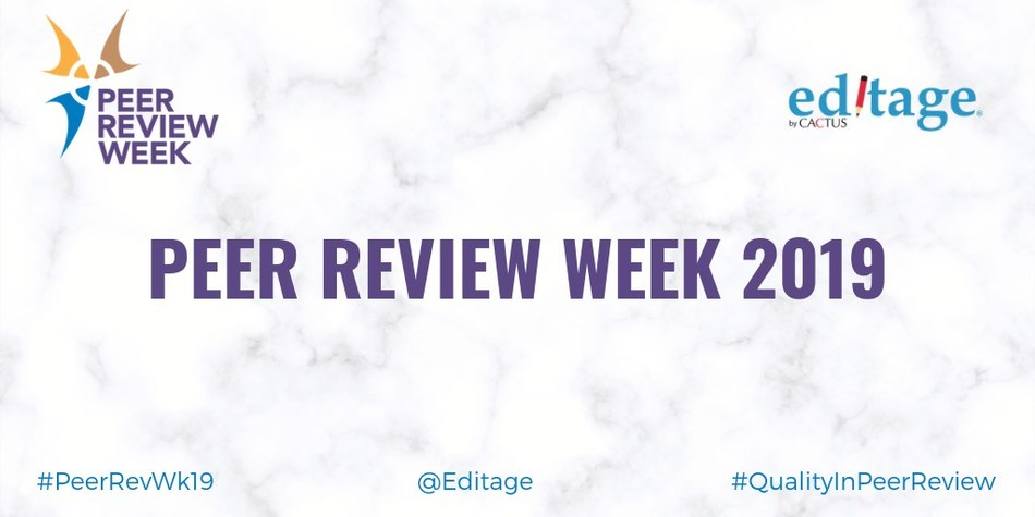 Editage serves on Organizing Committee for Peer Review Week 2019 and offers researchers interactive learning opportunities