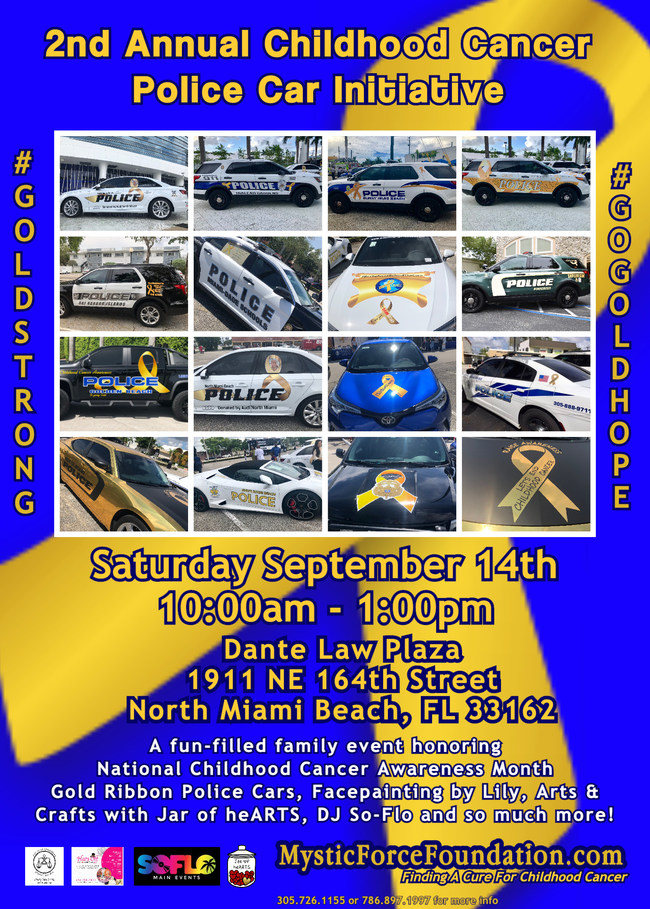 Gold Ribbon Police Cars
