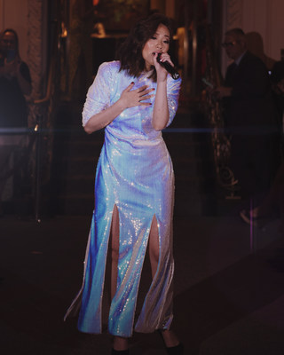 "Excella Chong performing her latest single ""Broken Heart"" at Jackie Holliday's VIP New York Fashion Week (NYFW) catwalk show."