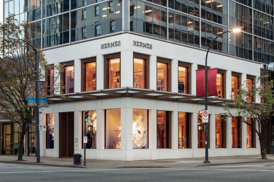 Hermès Vancouver at 717 Burrard Street (CNW Group/Hermes Canada inc.)