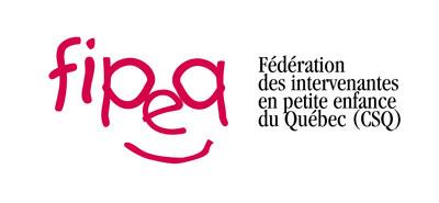 Logo : Fédération des intervenantes en petite enfance du Québec (FIPEQ-CSQ) (Groupe CNW/Fédération des intervenantes en petite enfance du Québec (FIPEQ-CSQ))