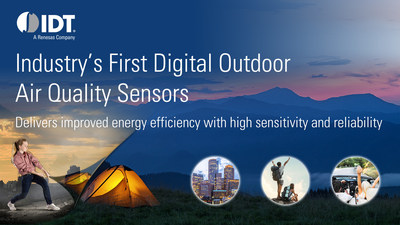 IDT launches industry's first digital outdoor air quality sensors.