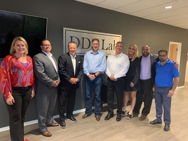 Executive teams from DDS Lab and Keystone Dental meet in DDS Lab's Tampa, FL headquarters.
