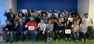 Growth500 2019 - Équipe CyberPublicity 56ème place avec une croissance de 1552% - 27 employés. (Groupe CNW/CyberPublicity)