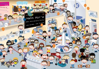 Hahn Air's hidden object challenge: find Martin, the smart travel agent