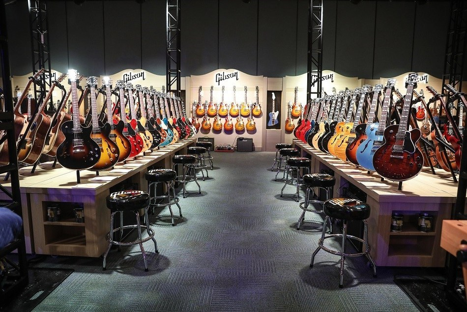 Gibson Experience at WINTER NAMM in Anaheim, CA.