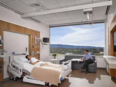 New Stanford Hospital patient room