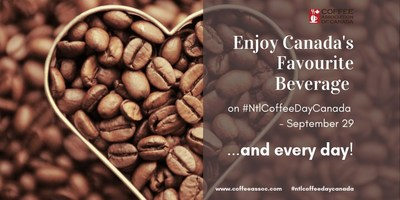 National Coffee Day Canada – September 29, 2019 (CNW Group/The Coffee Association of Canada)