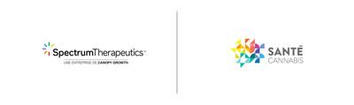 Logos : Spectrum Therapeutics, la division médicale de Canopy Growth Corporation et Santé Cannabis (Groupe CNW/Canopy Growth Corporation)