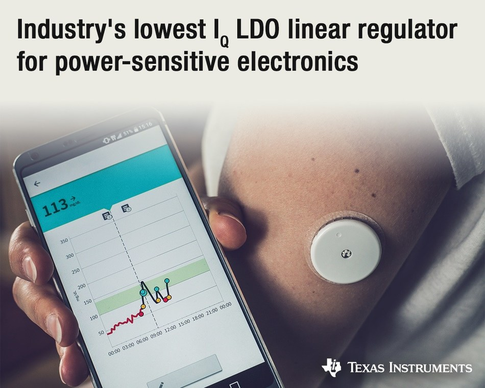 TI's new low-dropout linear regulator combines ultra-low IQ with fast transient response to improve system lifetime and performance