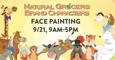 Natural Grocers Brand Characters Face Painting