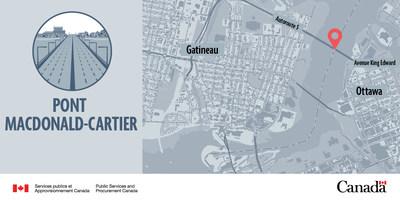 Pont Macdonald-Cartier (Groupe CNW/Services publics et Approvisionnement Canada)