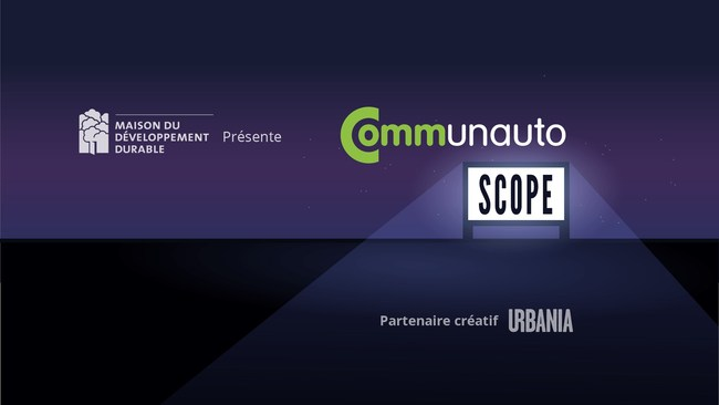 To mark its 25 years of service, Communauto, in partnership with the Centre for Sustainable Development, invites Montrealers to celebrate shared urban mobility around a major urban drive-in cinema in the Quartier des spectacles on September 23, starting at 6 p.m. (CNW Group/COMMUNAUTO)