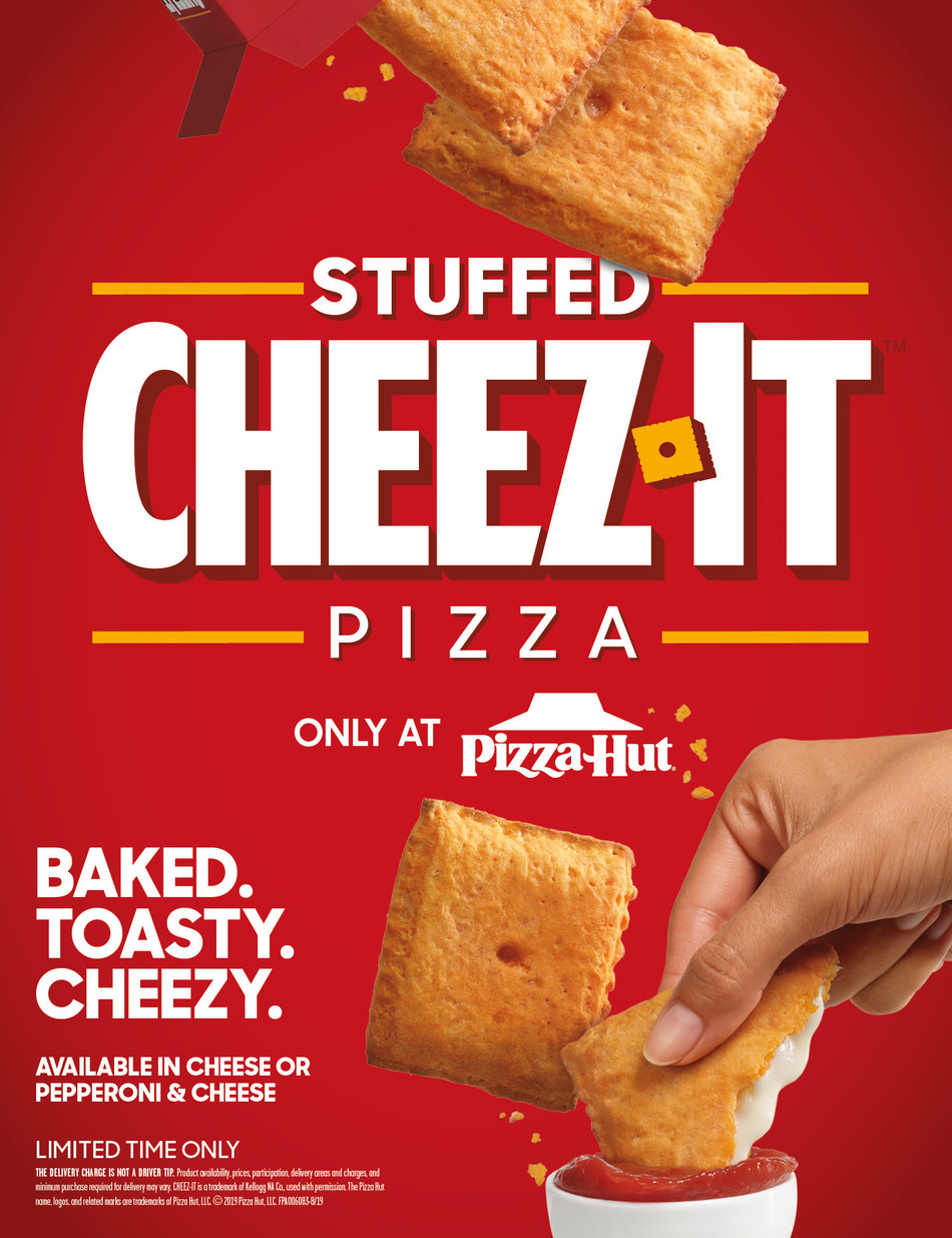 Household legends Pizza Hut and Cheez-It® have done the unthinkable, joining forces to combine their iconic foods into one mouthwatering creation – the Stuffed Cheez-It Pizza™ – now available at Pizza Hut restaurants nationwide.