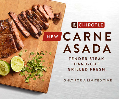 Chipotle Mexican Grill announced that it's introducing a brand-new steak option, Carne Asada, nationally on September 19, 2019.