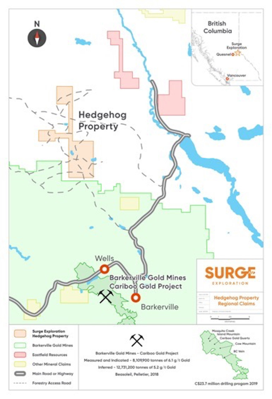 Map of the Hedgehog Property