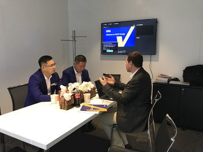 Yang Hongxin, general manager of SVOLT, received a media interview (PRNewsfoto/SVOLT Energy Technology Co., Lt)