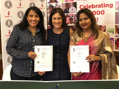 (L to R) _ Mamta Carroll, Vice President & Regional Director, Asia, Smile Train_ Susannah Schaefer, Executive Vice Chair, President & CEO, Smile Train_ and Dr. Nandita Palshetkar, President, FOGSI