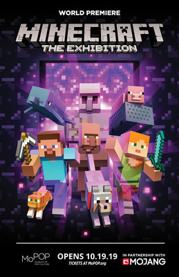 World Premiere of Minecraft: The Exhibition Virtual Landscape Comes to Life in Seattle's MoPOP