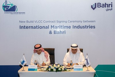 VPA Signing: IMI & Bahri. L-R: Mr. Fathi K. Al-Saleem, Chief Executive Officer, IMI; Eng. Abdullah Aldubaikhi, Chief Executive Officer, Bahri