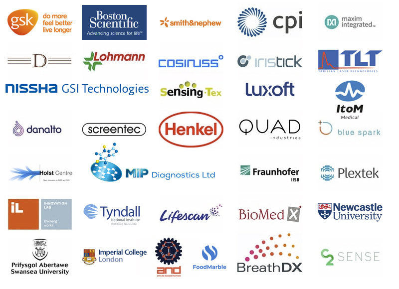 Some of the companies speaking and exhibiting at IDTechEx's upcoming event: Healthcare Sensor Innovations