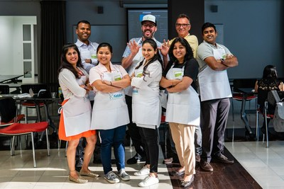 The Katalyst Technologies team are ready to cook in the Culinary Care Corporate Cook-Off!