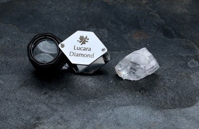 The 123 Carat Diamond Recovered From The Karowe Diamond Mine In Botswana (CNW Group/Lucara Diamond Corp.)