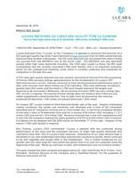 Lucara Recovers 123 Carat Gem Quality Type IIA Diamond (CNW Group/Lucara Diamond Corp.)