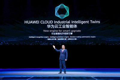 Zheng Yelai a lancé les jumeaux industriels intelligents de HUAWEI CLOUD (PRNewsfoto/HUAWEI CLOUD)