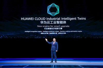 Zheng Yelai lançou os Gêmeos Inteligentes Industriais da HUAWEI CLOUD (PRNewsfoto/HUAWEI CLOUD)