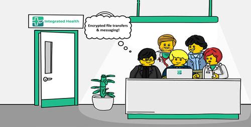 LigneSante: Encrypted file transfer & messaging